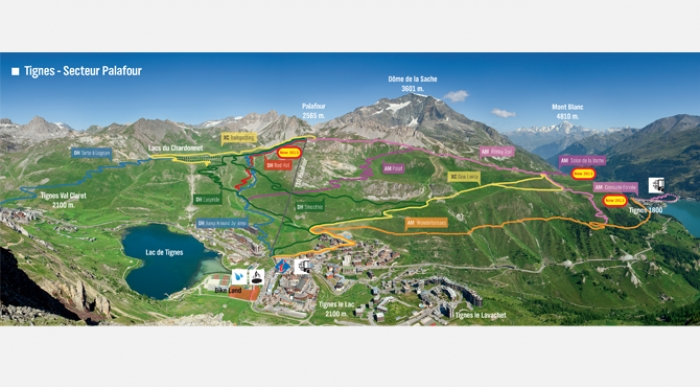 Tignes glacier is now open for summer skiing riding