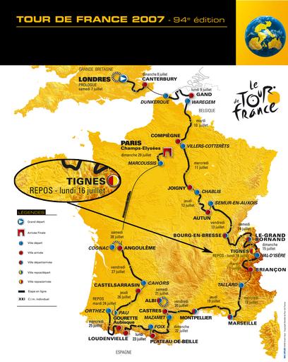 Tour De France 2007 heading through Tignes News Tignes Spirit